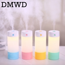 DMWD MINI Ultrasonic Humidifier portable USB car Aroma Essential auto vehicle Oil Diffuser Colorful LED Night Lights Mist maker