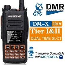 2019 Baofeng DM-X gps-рация Dual Time слот DMR цифровой/аналоговый DMR повторителя обновление DM-1801 DM-1701 DM-1702 радио