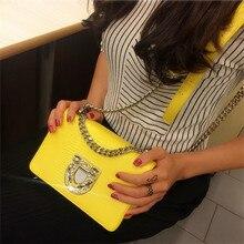 2019 Fashion Women Yellow Handbags Genuine Leather Diamonds Chains Hand Bag Flap Shoulder Messenger Crossbody Cow Leather Bags цена 2017
