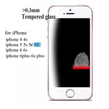 2 5D 0 3mm Premium Tempered Glass Screen Protector for iPhone 6 6s 5 5s 5se