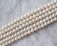 new fashion 5 Strands 6 7mm White Freshwater Pearl Round 14.5 beads women jewelry making
