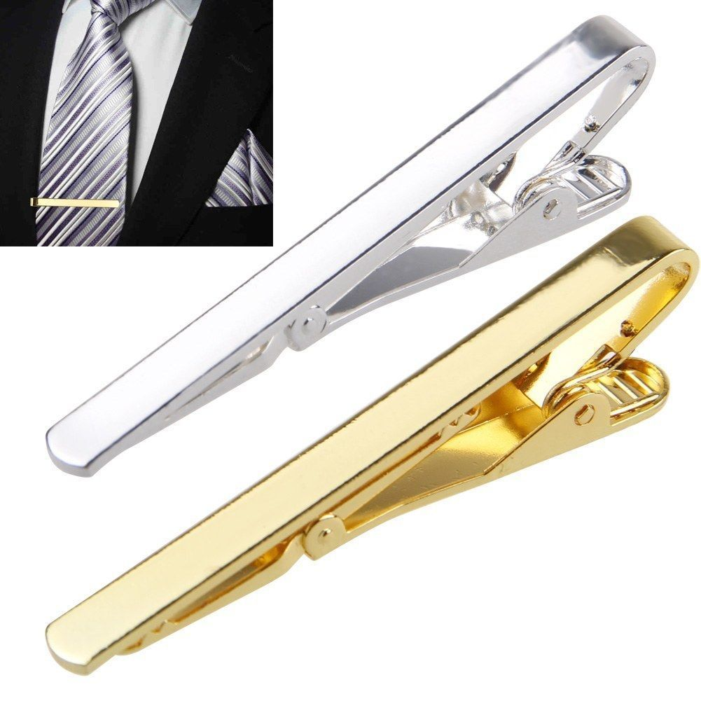 Men Metal Silver Gold Simple Necktie Tie Bar Clasp Clip Clamp Pin Men Stainless Steel For Business Ma Necktie Tie Clasps(China)