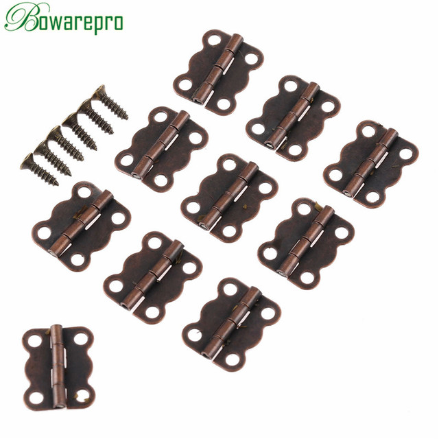 bowarepro 30Pcs Antique Cabinet Hinges Furniture Accessories Jewelry Boxes  Small Hinge Furniture Fittings For Cupboard 16 - Bowarepro 30Pcs Antique Cabinet Hinges Furniture Accessories Jewelry