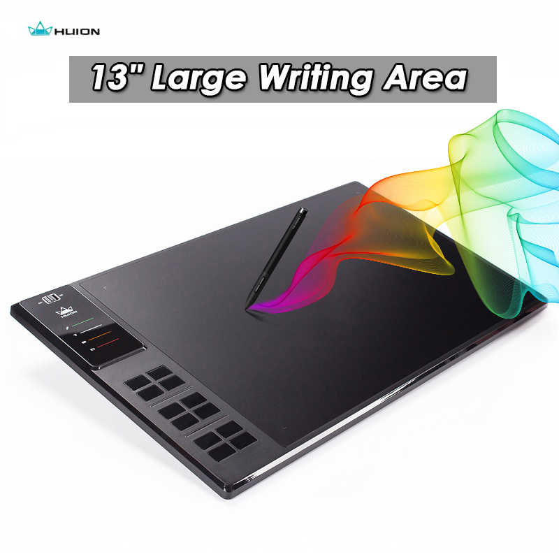 "Huion GIANO WH1409 inalámbrico 2,4G tableta de dibujo gráfico 14 ""tarjeta de memoria incorporada 8 GB Tabletas digitales tableta de lápiz bolsa guante regalo"