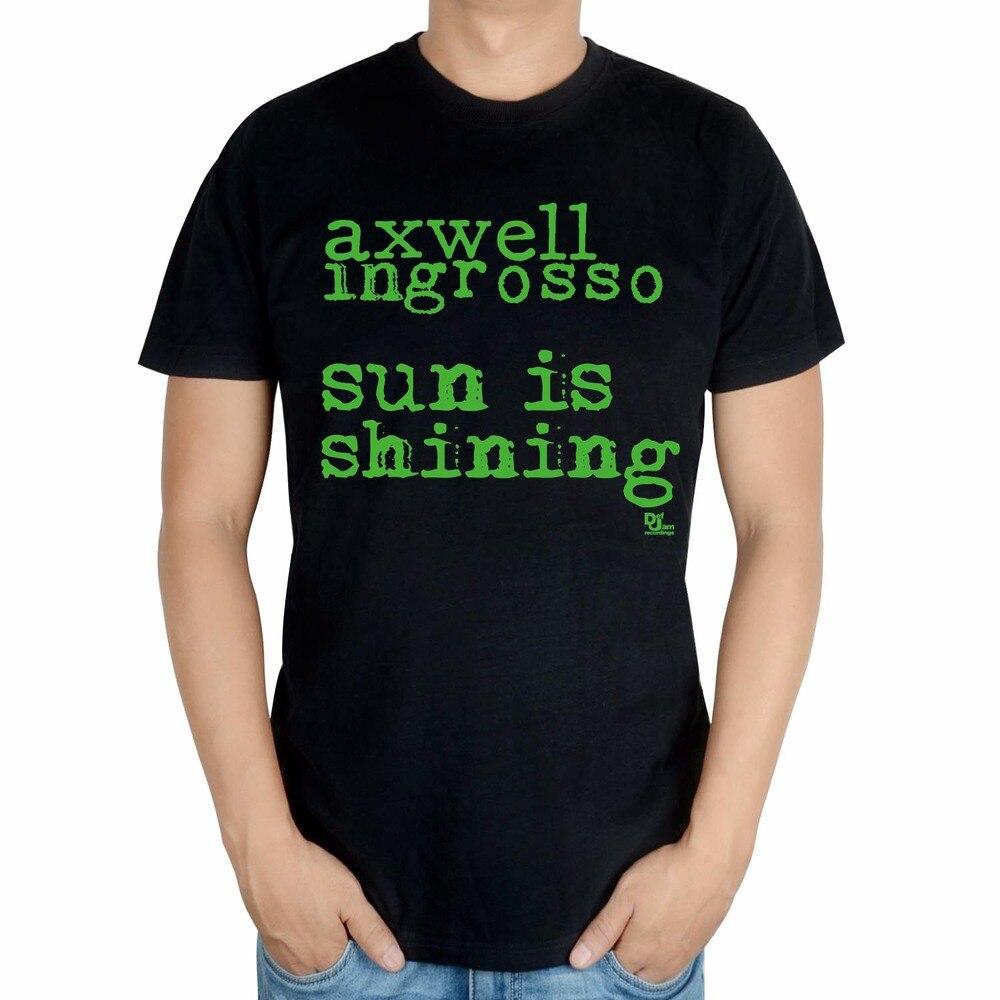 2 вида Летний Стиль Мода Письмо axwell ingrosso бренд певица мужчины DJ мастер ММА печать хлопковая футболка музыка фитнес - Цвет: Бежевый