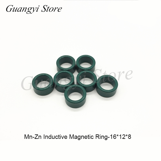 100pcs Green Magnetic Ring Ferrite Magnetic Ring 16*12*8 Mm Anti-interference Core Filter Inductance Transformer Magnetic Ring