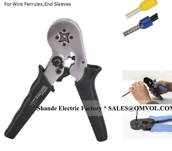 0.25-6.0mm2 24-10AWG Mini type self-Adjustable Crimping Plier For Wire Ferrules ,End Sleeves crimping terminals