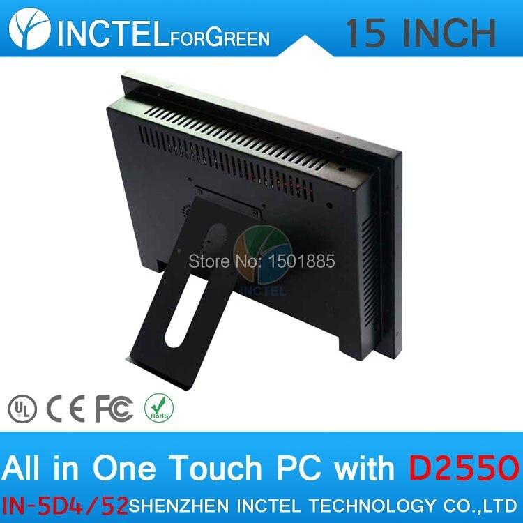 Dernier écran tactile de panneau de LED de 15 pouces tout en un windows POS ordinateurs double 1000 Mbps Nics 4G RAM 64G SSD 500G HDD - 5