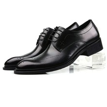 european style genuine full grain carved leather mens fashion qshoes business dress casual shoes men personalized shoe ym129-2