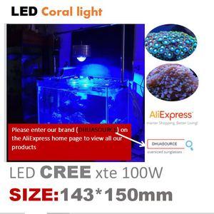 Image 2 - 100w cree led aquário luz marinha recife coral lâmpada do tanque de peixes para água salgada peixes marinhos de água doce pet iluminação cultivada