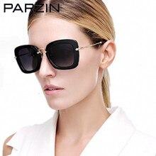 Parzin Винтаж негабаритных Солнцезащитные очки для женщин Для женщин Поляризованные Ретро Женские Солнцезащитные очки для женщин Для женщин для вождения Защита от солнца Очки Case черный 9535