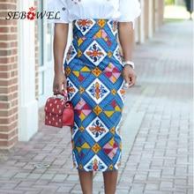c8ac524d9a9404 SEBOWEL Plus Size S-XXL Afrikaanse Print Hoge Taille Bodycon Lange Rok  Vrouwen Sexy Casual
