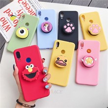 for huawei p smart z 3D silicone cartoon phone holder case for huawei p smart 2019 2017 psmart plus girl cute stand soft covers(China)