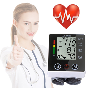 Health Care Digital Blood Pressure Monitor Wrist Tonometer Automatic Sphygmomanometer BP Blood Pressure Meter Pulse Oximeter