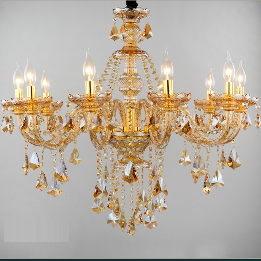 Led e14 european amber candle crystal chandelier led light led lamp led e14 european amber candle crystal chandelier led light led lamp for foyer bedroom dinning room lounge area hotel villa in chandeliers from lights aloadofball Gallery