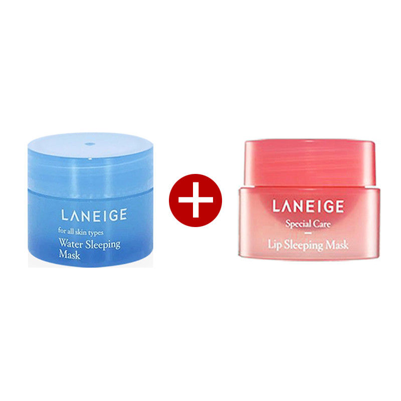 Korea Cosmetics Good Night Sleeping Care Set ( Lip Mask 3g + Water Sleeping Mask 15ml ) Facial Skin Care Face Mask Lip Mask