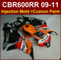 Orange repsol fairings for HONDA CBR600RR fairing kits 2009 2010 2011 cbr600rr ABS CBR 600RR 09 10 11+7gifts