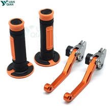 CNC Pivot Brake Clutch Levers Dirt Bike Motocross Handle Bar Hand Grips Set For KTM 990SM T R 450SMR 690 SMC 690SMC