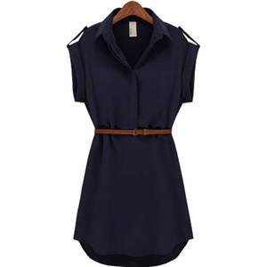 Dress Women's Clothing Vestidos Summer-Style Short-Sleeve Fashion Chiffon GZ053 Stock