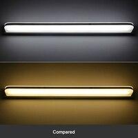 Led lâmpada de parede espelho luz à prova dwaterproof água cosméticos acrílico lâmpada de parede para casa banheiro luminária decoração