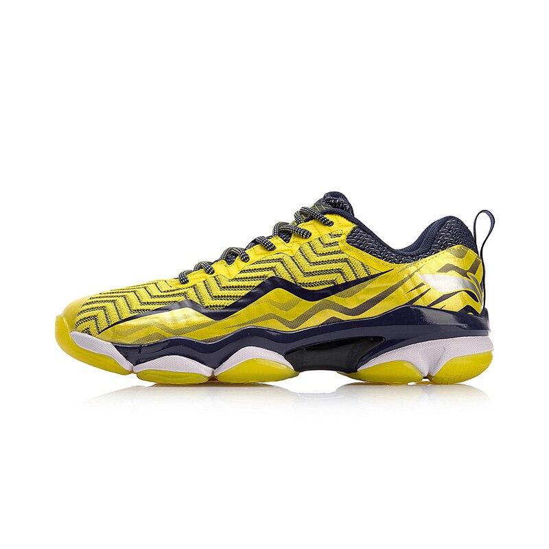 Li-ning hommes SONIC BOOM tricot chaussures de Badminton professionnel LN BOUNSE + doublure de coussin chaussures de Sport portables baskets AYZN011 XYY073 - 3