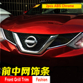 FIT FOR 2014 2015 2016 NISSAN QASHQAI CHROME FRONT MESH GRILLE GRILL HEAD LIGHT LAMP COVER TRIM INSERT STYLING MOLDING GARNISH