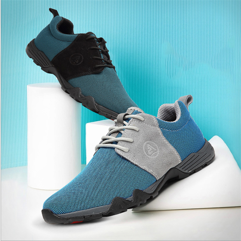 AQUA TWO Outdoor Men Sports Walking Shoes Air mesh Breathable Lace-up Sneakers Durable Athletic Trekkin Shoes For Men HDS-102251