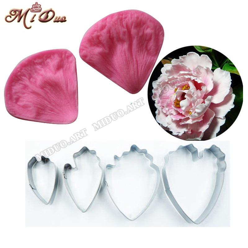 Rose pétales de fleurs veiner fondant moule Craft Art DIY Résine Gâteau Décoration Moule