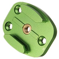 HFES Hot Aluminum CNC Plate Buckle Monte 4 Hold For GoPro HD Hero 2 3 3+ 6 (Green)