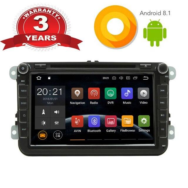 Pantalla de Radio estéreo para coche Android 8,1 para Volkswagen CC de 2014 reproductor de DVD CD de coche para Passat B6 Polo GOLF touran Tiguan