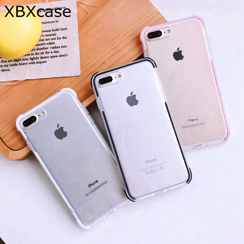 Clothes, Shoes & Accessories Lack Candy Color Anti-knock Clear Soft Cases For Iphone Xs Max Transparent Protector Back Cover For Iphone 8 Plus 6 6s 7 X Xr