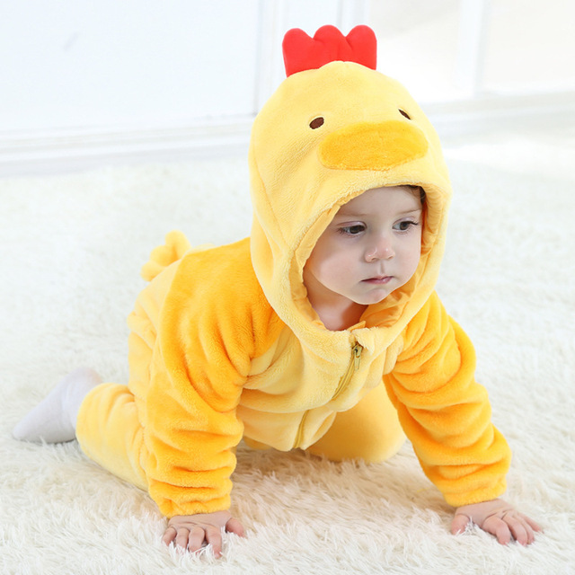 2017 onesie cute chicken animal baby girl boy clothes christmas clothing kids romper cosplay pajamas children