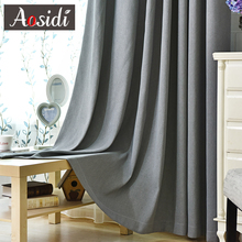 Modern blackout curtains for living room window Cotton curtain for bedroom Solid color Finished curtains Thick Decoration Tende modern finished bedroom curtains blackout curtains blackout fabric living room thick shade cloth curtain curtains short