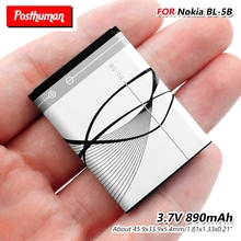 890mAh BL-5B BL 5B Battery Lithium Li-Po for Nokia 3220 3230 5140 5140i 5200 5300 5500 6020 6021 6060 N83 N90 BL-5B Battery цена