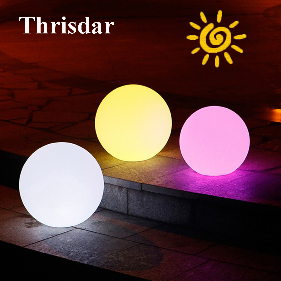 Thrisdar 7 цветов Солнечный сад шар света Dia20CM 25 см 30 см IP65 Открытый Пейзаж Патио ...