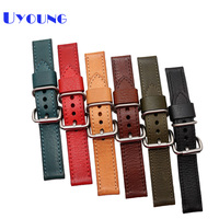 Quality Italian Genuine Leather Watchbands 22mm 24mm Mens Wristwatches Band Retro Style Accessories Pin Buckle Watch