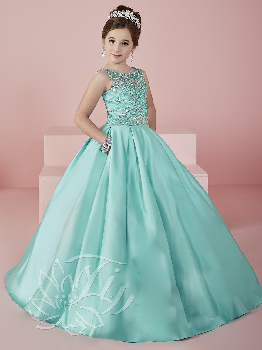 Tiffany\'s Blue Flower Prom Dress – fashion dresses