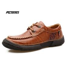 Новый стиль ретро Стиль Мужская обувь, Высококачественная Мужская повседневная обувь на шнуровке Повседневная обувь для мужчин