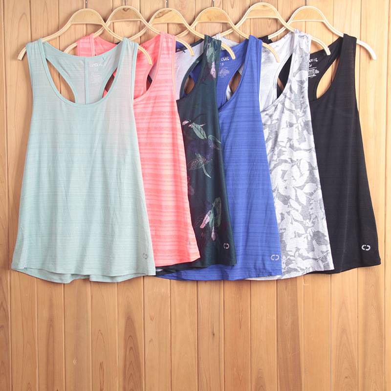 3PCS Send Randomly LIMITED SALE Women Backless Tank Tops Sports Floral Print Sportswear Gym Workour(China)