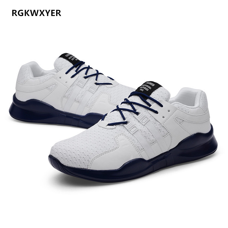 RGKWXYER New Big Size 48 Shoes Men Sneakers Lightweight Breathable Man Casual Shoes Spring Summer Fashion Lace-Up Work Shoes