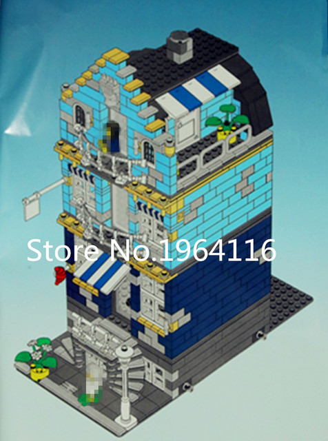 Neue 15007 Ideen FABRIK Serie Die Market Street Modell Bausteine Kompatibel  10190 Haus Architektur Spielzeug Für