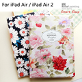Luxury Designer Case For iPad 5 6 Smart Stand Case 3D Relief Embossing For iPad Air / iPad Air 2 Cover In Fashion Style + Gift