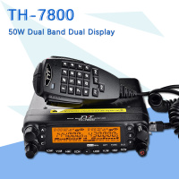 Dual Band TYT TH 7800 Radio Unit USB Programming Cable 50W LCD Dual Display Car Truck AM/FM Radio Mobile