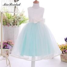 Bow Girl Dresses 2016 Cute Ball Gown Sleeveless Summer Flower Girl Dresses for Weddings Party Dresses XY-119