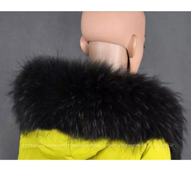 Invierno 100% Real Natural de piel de Mapache Cuello de Piel Abrigo de Las Mujeres Suéter Sombrero Bufandas Sólidas Collar Natural de Piel De Mapache Cuello de Las Deformaciones S #03