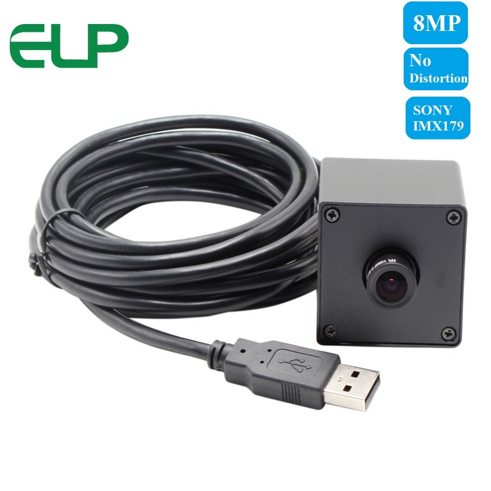 8mp 3264X2448 HD high resolution High Speed CCTV Webcam No distortion lens metal box Mini USB Camera Android Linux Windows7.8.10 8 megapixel micro digital sony imx179 usb 8mp hd webcam high speed usb 2 0 cctv camera board with 75degree no distortion lens