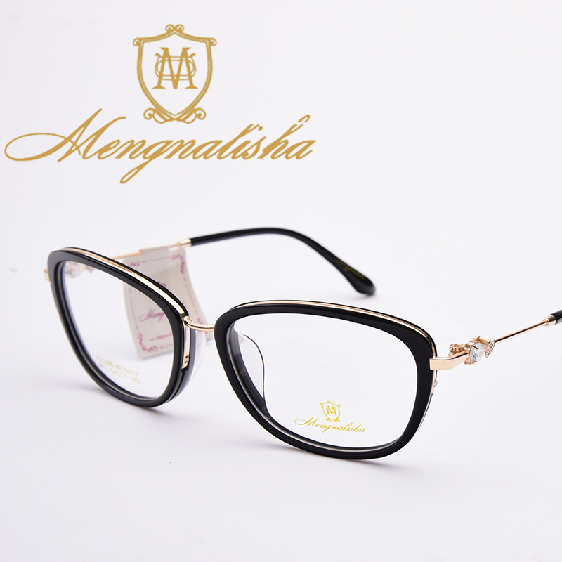 c0349e23779 Vazrobe Acetate Glasses Women Rhinestone Eyeglasses Frames Female Nerd  Eyewear for Prescription spectacles black fashion style