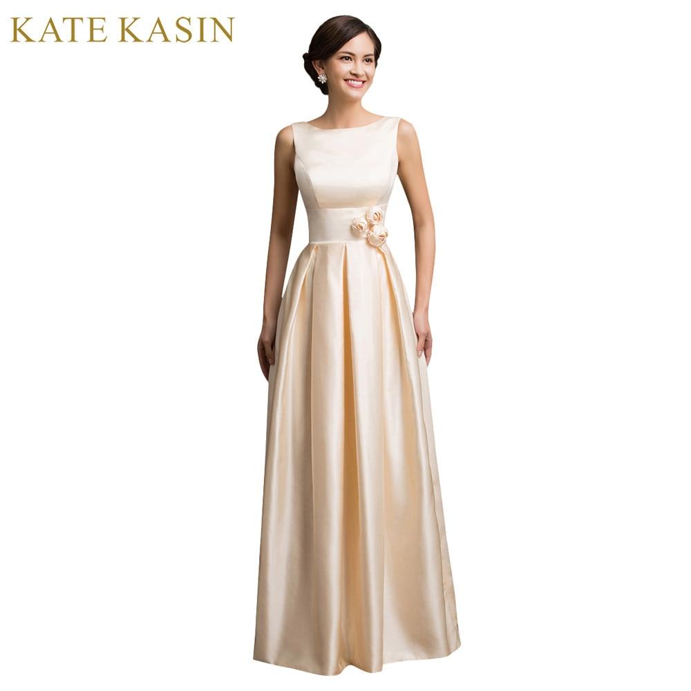 ₩Dos hombro satén largo vestido de noche sin mangas de espalda baja ...