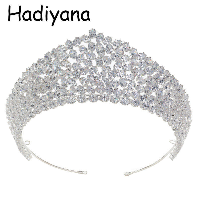 Hadiyana Luxury Bridal Crown Hot Women's Headwear Wedding Engagement Jewelry Hair Accessories Crown Birthday Party HG6072-in Hair Jewelry from Jewelry & Accessories    1