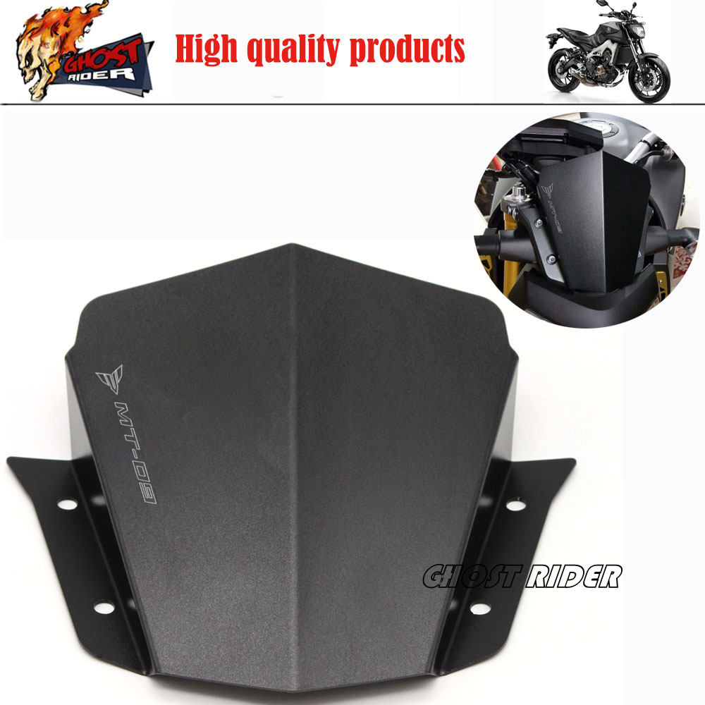 Black Motorcycle Accessories Motorbike Windshield Windscreen fits For Yamaha MT09 MT-09 2014-2015 FJ-09 MT-09 Tracer 2015